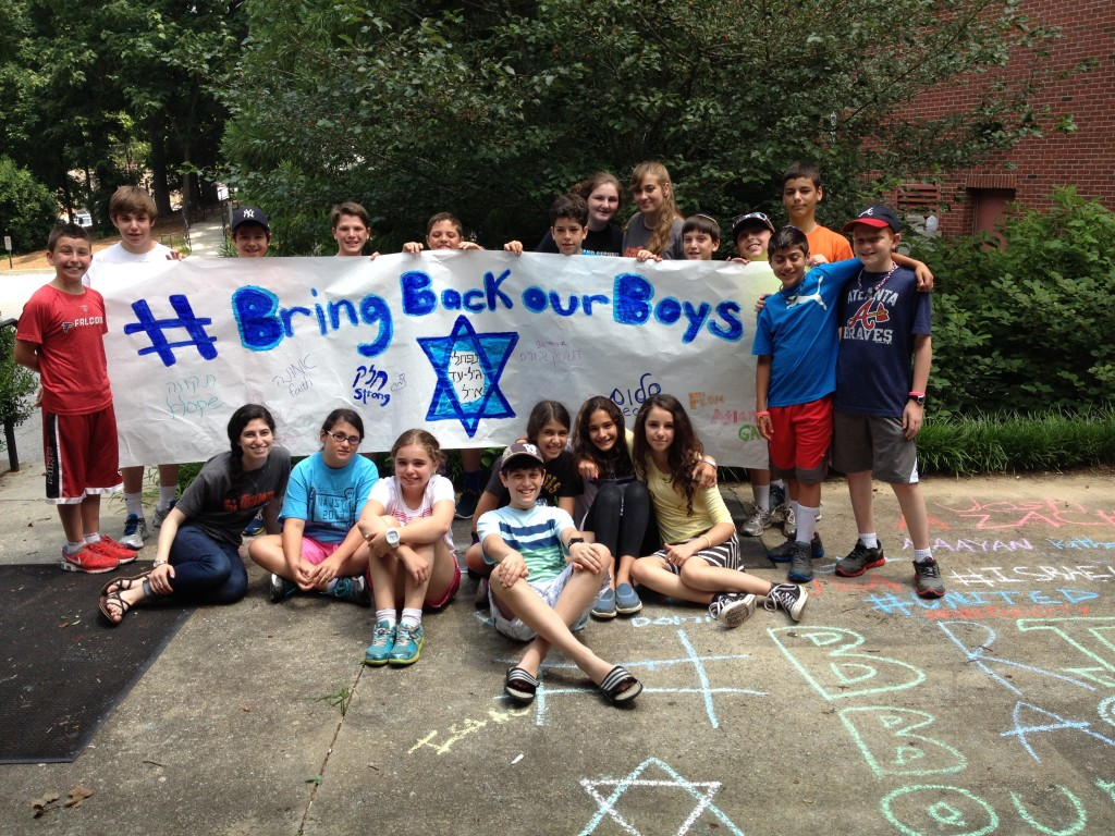 The Tweens created this banner to spread awareness of the kidnapped Israeli boys.